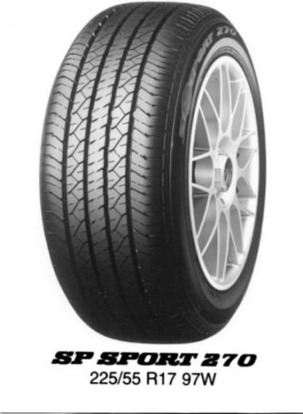 DUNLOP sp sport 270 215/60 R17 96H TL, letní pneu, osobní a SUV