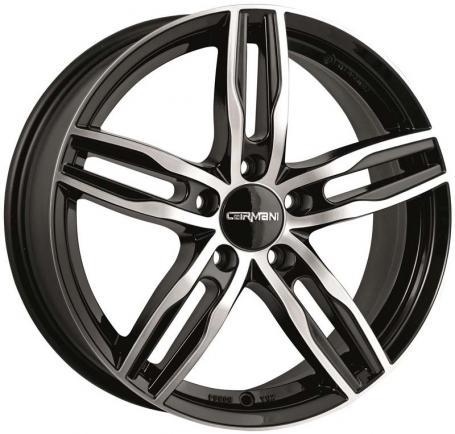 "alu kola CARMANI CA14 sw poliert black polish 7x16"" 5x108 ET44 65,1"