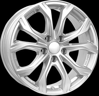 "alu kola ALUTEC W10X ps - stříbrné 8x18"" 5x130 ET53 71,5"