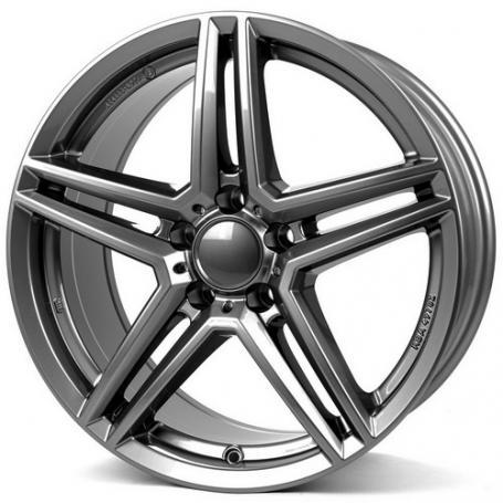 "alu kola RIAL M10X metal-grey - šedé 8,5x19"" 5x112 ET38 66,5"