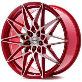 """alu kola AXXION AX9 červené - leštěné čelo 8,5x19"""" 5x120 ET35 72,6"""