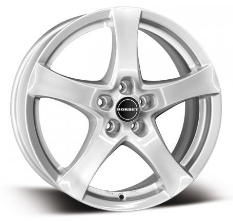 "alu kola BORBET F silver - stříbrná 7x17"" 5x108 ET50 72,5"