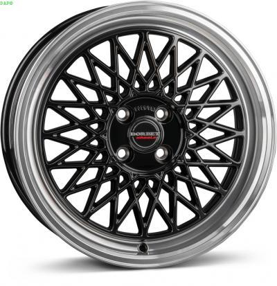 "alu kola BORBET b black rim polished 8x17"" 5x120 ET35 72,5"
