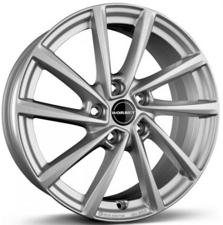 "alu kola BORBET VT silver - stříbrné 7,5x17"" 5x115 ET44 70,3"