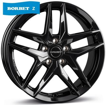 """alu kola BORBET Z black glossy 7,5x17"""" 5x112 ET38 66,5"""