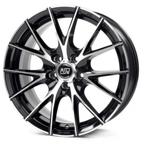 """alu kola MSW 25 black polished 9x18"""" 5x112 ET45 73,1"""
