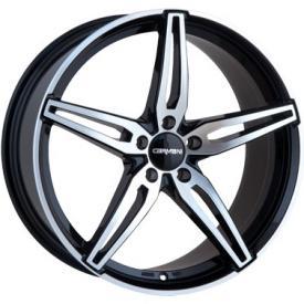 """alu kola CARMANI CA15 black-polish (černé-leštěné čelo) 8,5x19"""" 5x120 ET38 72,6"""