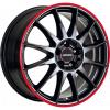 r54 jetblack-red rim - černé/červený límec