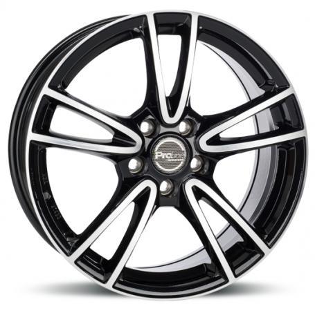 "alu kola PROLINE CX300 black polished 7,5x17"" 5x108 ET43 74,1"