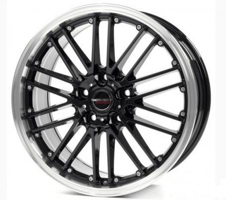 "alu kola BORBET CW2 black rim polished 8,5x19"" 5x105 ET36 56,6"