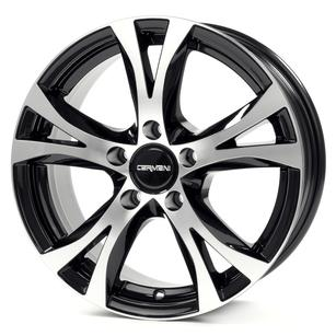 "alu kola CARMANI CA9 bp blackpolish black polish 6,5x16"" 5x112 ET42 57,1"